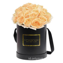 Luxury Matte Black Flower Box dengan Handle